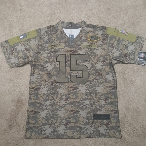 new style 479f3 9f0a8 Patrick Mahomes Salute To Service Jersey New Mens NWT